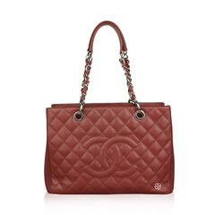 Chanel GST Red Caviar Leather