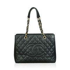 Chanel GST Black Caviar GHW
