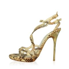 Jimmy Choo Strappy Lizard Sandals
