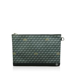 Faure Le Page Pochette Black Grey Clutch Leather