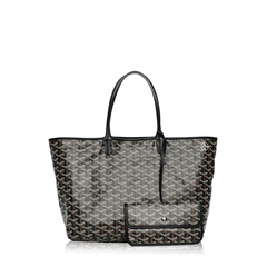 Goyard ST Louis PM Chevron Black Tote Bag