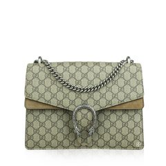 Gucci Beige GG Canvas Dionysus Medium Shoulder Bag