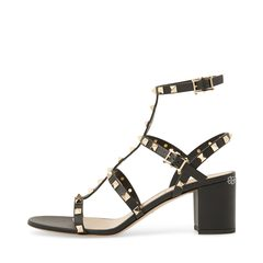 Valentino Chunky Strappy Sandal in Black