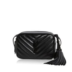 Saint Laurent Lou Belt Bag in Black Quilted with Black Hardware