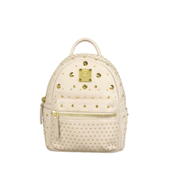 MCM X Stark Bebe Boo Studded Leather Backpack