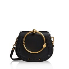 Chloe Small Nile Bracelet Bag in Black with Shoulder and Crossbody Strap