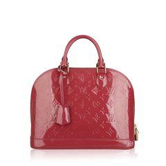 Louis Vuitton Alma Monogram Vernis Bag in Pink