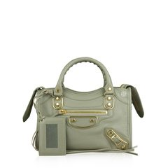 Balenciaga Mini Metallic Edge in Griss Taupe GHW