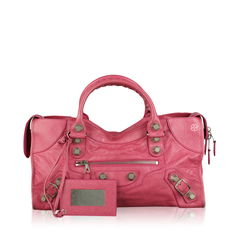 Balenciaga Cyclamen Giant City Bag In Pink SHW