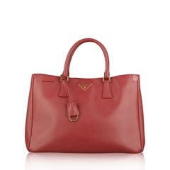 Prada Saffiano Lux Bag In Red