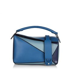 Loewe Medium Puzzle Bag in Varsity Blue Multitone