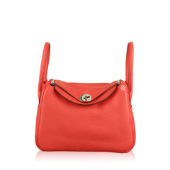 Hermes Lindy 26 Taurillon Clemence Bag In Red