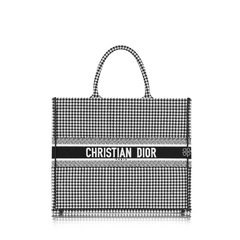 Christian DiorBook Tote Bag In Embroided Canvas