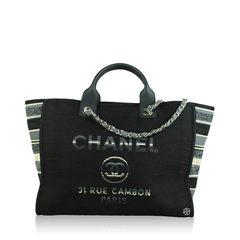 Chanel Deauville Canvas Stripe