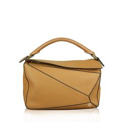 Loewe Medium Puzzle Bag Tan