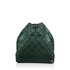 Chanel Gabrielle Green Backpack
