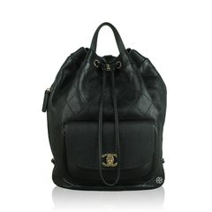 Chanel Vintage Daily Round Black Backpack