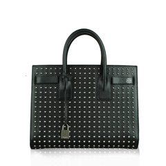 Saint Laurent Studded Sac de Jour Bag in Black