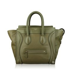 Celine Mini Luggage Jungle Drummed Leather