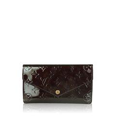 Louis Vuitton Monogram Vernis Wine in Wallet