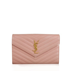 Saint Laurent	YSL Monogram WOC  Wallet Pink 22 cm