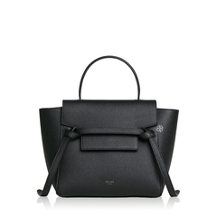 Celine Nano Belt Bag in Black Grained Leather