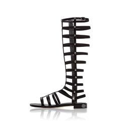 Stuart Weitzman Black Gladiator Sandals