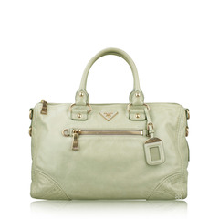 Prada Green Calfskin leather Tote Bag