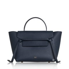 Celine	Mini Belt In Abyss Blue Grained GHW