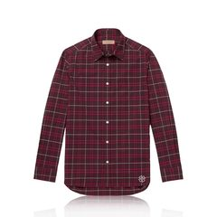 Burberry	Alexander Check Shirt in Red