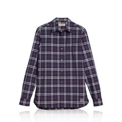 Burberry	Alexander Check Shirt in Navy