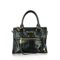 Miu Miu	Bauletto Vitello Shine in Black
