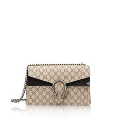 GucciSmall Dionysus Shoulder Bag in Beige/Black