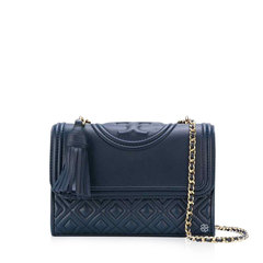Tory BurchSmall Fleming Shoulder Bag in Royal Navy GHW with Tassels