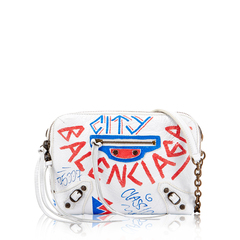 Balenciaga	Reporter Chain Shoulder Bag Graffiti in White