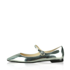 Prada	Mary Jane Ballet Metallic Flats