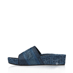 Christian Dior	D Way Denim Oblique Logo Blue
