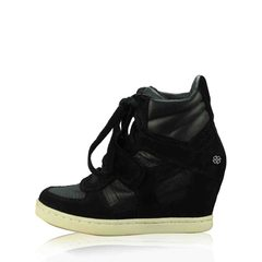 ASH	Bowie Wedge Sneakers in Black