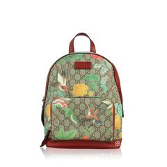 Gucci	GG Supreme Monogram Small Tian Print Backpack Red