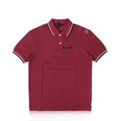 Prada	Bordeaux Signature Stripe Polo Shirt  #4