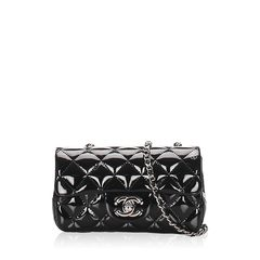 Chanel	Extra Mini Patent Leather Single Flap Bag