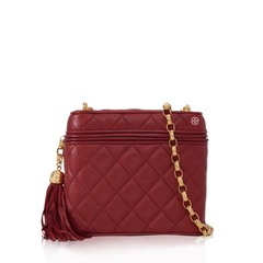 Chanel	Lambskin Leather Quilted Shoulder Bag