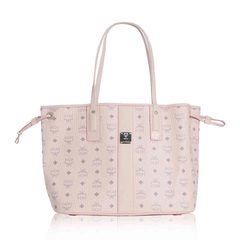 MCM	Liz Reversible Shopper Tote Bag in Powder Pink with Pouch