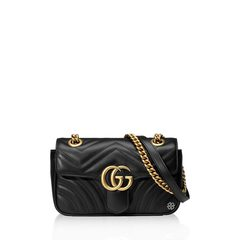 Gucci	Mini GG Marmont Shoulder Bag Black GHW